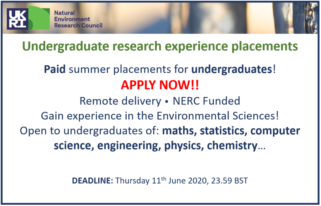 Funded Research Experience Summer Placements – now accepting applications!